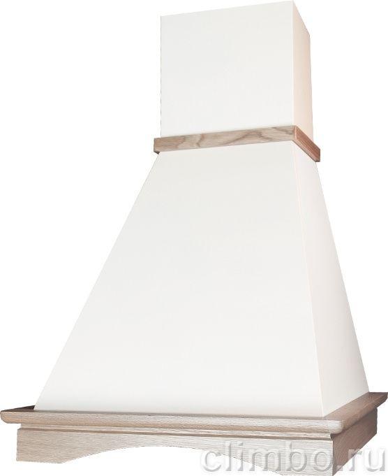 Вытяжка эликор пергола в белой кухне фото
